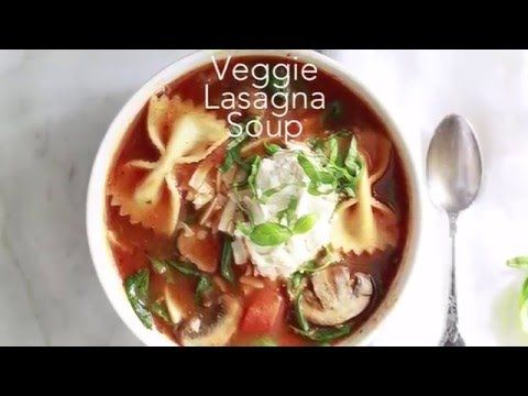 Easy Vegetarian Lasagna Soup Recipe | Yummy Mummy Kitchen | A Vibrant Vegetarian Blog