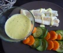 Cabillaud, légumes et sauce messine