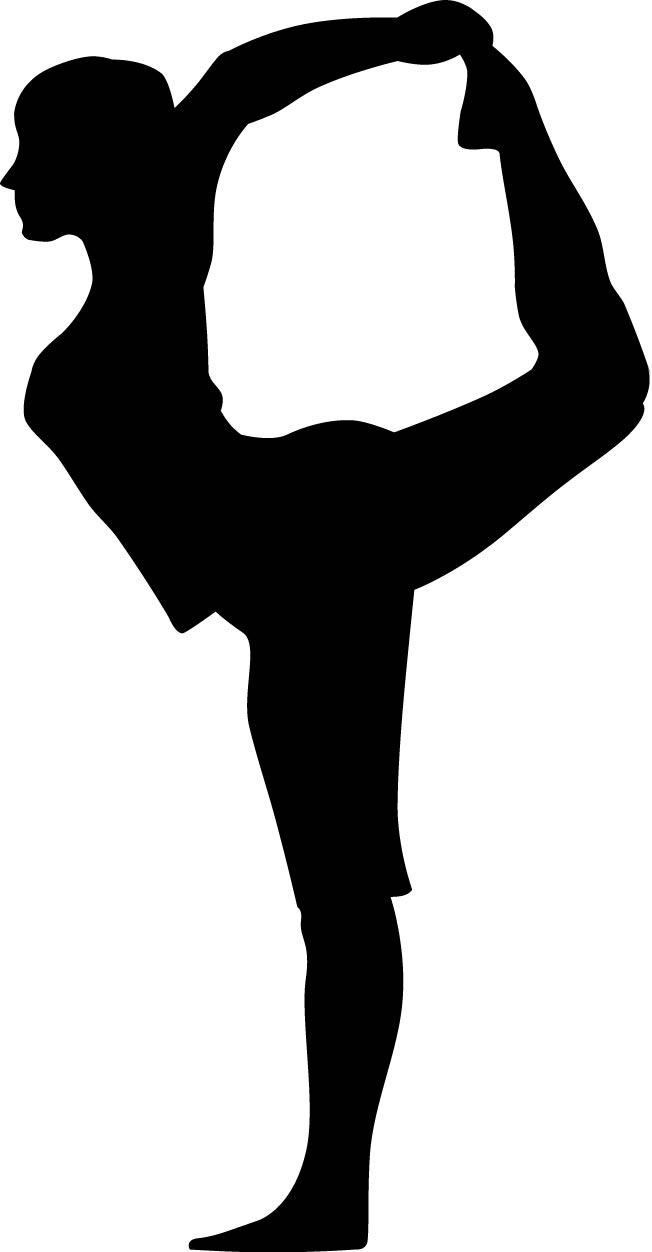 Yoga Lord Of The Dance Pose Woman Silhouette : Custom Wall ...