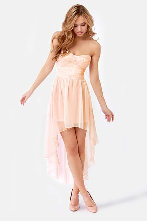 Keep a High-Low Profile Strapless Peach Dress  sc 1 st  Pinterest & 26 best high-low dresses images on Pinterest | High low dresses ... azcodes.com