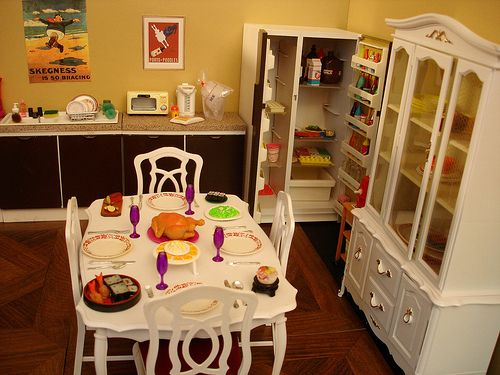 Vintage Sindy doll house pieces ~ some re-painted  [not mine - after years of waiting I do have it all]