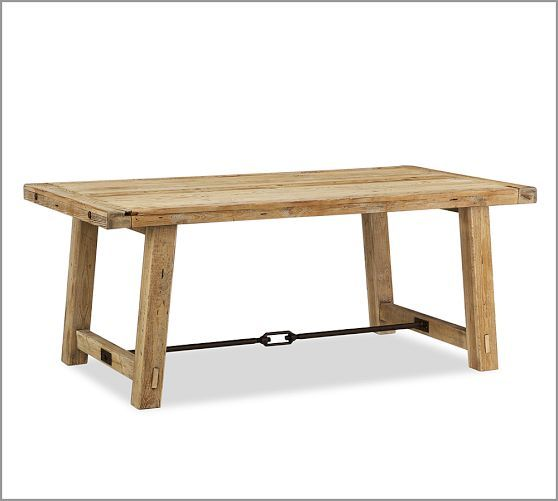 Benchwright Reclaimed Wood Fixed Dining Table - Wax Pine finish | Pottery Barn