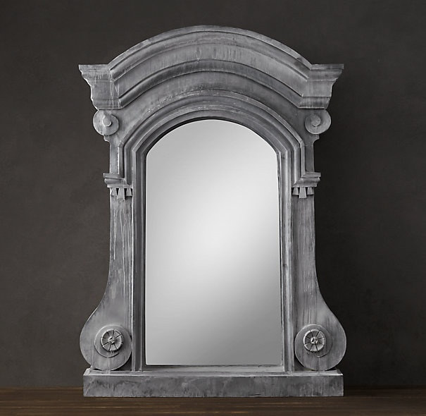18th C. French Dormer Mirror I saw this mirror hanging in Restoration Hardware and fell in love with it's size and presence. I want to do something similar in my basement.