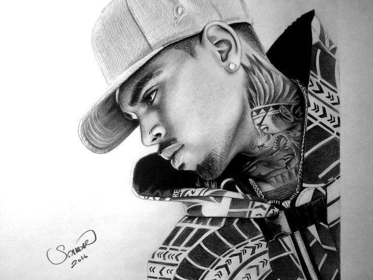 Chris Brown A4 - 8B, 2B Pencil work
