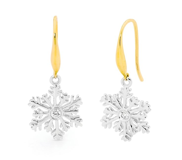 Diamond Snowflake Earrings, Earrings, SJ2876