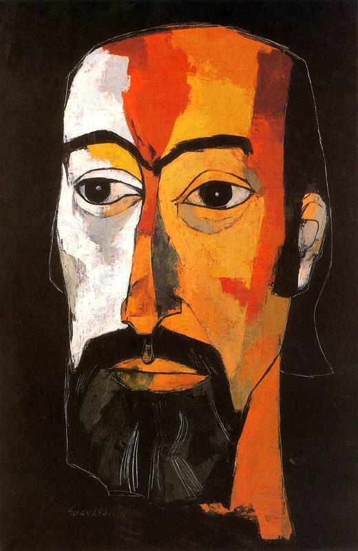 Retrato Jorge Enrique Adoum. Óleo sobre tela. 105 x 70 cm. Colección Fundación Guayasamín. Quito. Ecuador