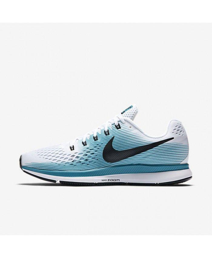 fcf86d2e341 Nike Air Zoom Pegasus 34 White Blustery Black 880555-101