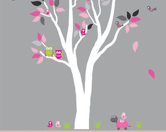 Kids Tree Wall Fabric Decal ECOFRIENDLY Non-Toxic Reusable Fabric Decal - 959
