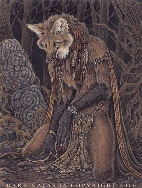 Elementalist Maned Wolf by *darknatasha on deviantART