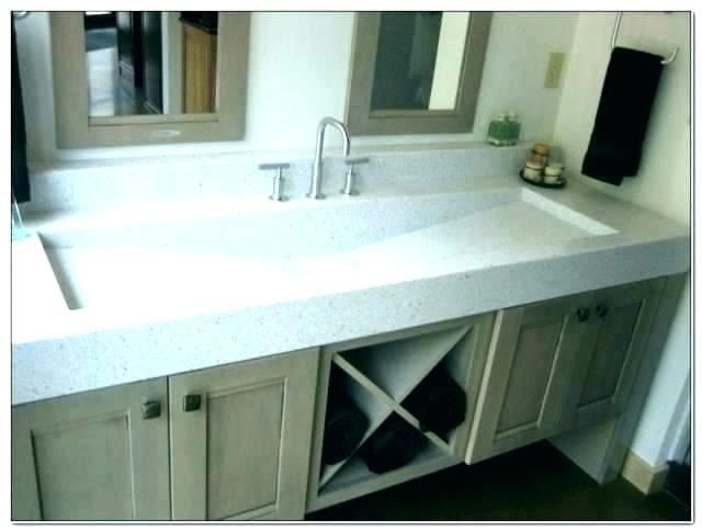 Trough Sinks For Bathrooms Attractive Trough Sink With 2 Faucets
