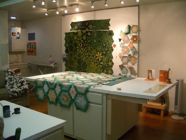 The Ends Of The Table Drops Down. Great Design Wall. Sewing Room DesignSewing  StudioSewing ...