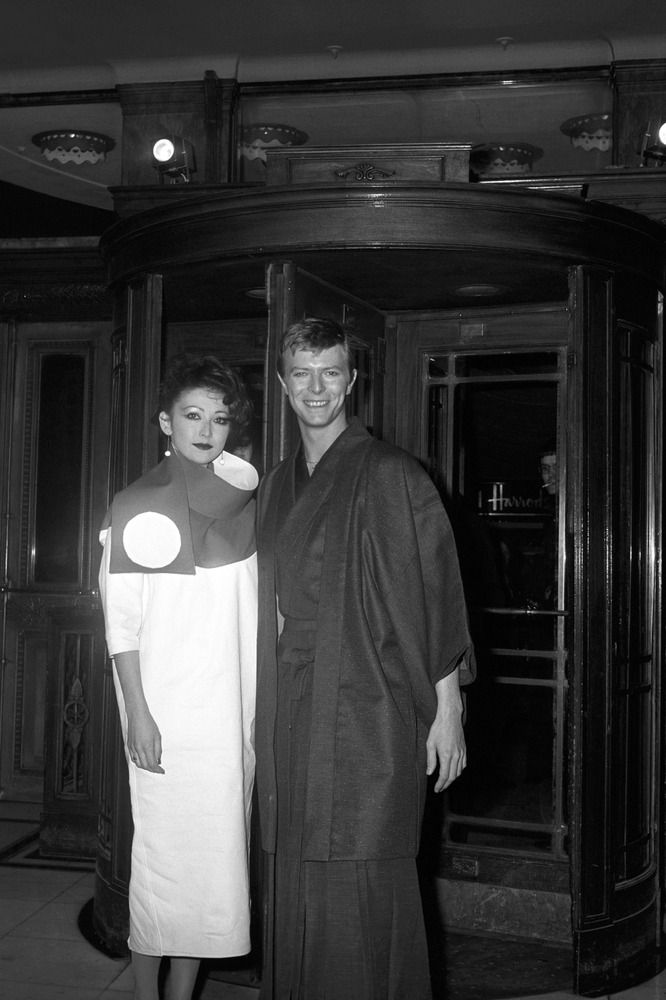 "British Entertainment - Film - David Bowie - London - 1979 David Bowie and Viv Lyn outside the Cafe Royal, London for the pre-premiere party for his new film ""Just a Gigolo"""
