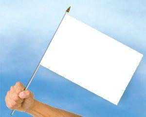 Bild von Stockflaggen Blanko / Weiß  (40 x 30 cm)-Fahne Stockflaggen Blanko / Weiß  (40 x 30 cm)-Nationalflagge, Flaggen und Fahnen kaufen, ...