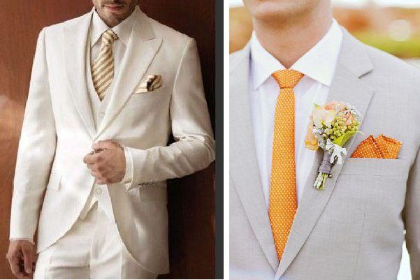 El traje de novio para una boda de día en un lugar abierto y con clima cálido tendrá que estar formado por saco, pantalón, camisa y corbata #bodas #elblogdemaríajosé #trajenovio #bodadía