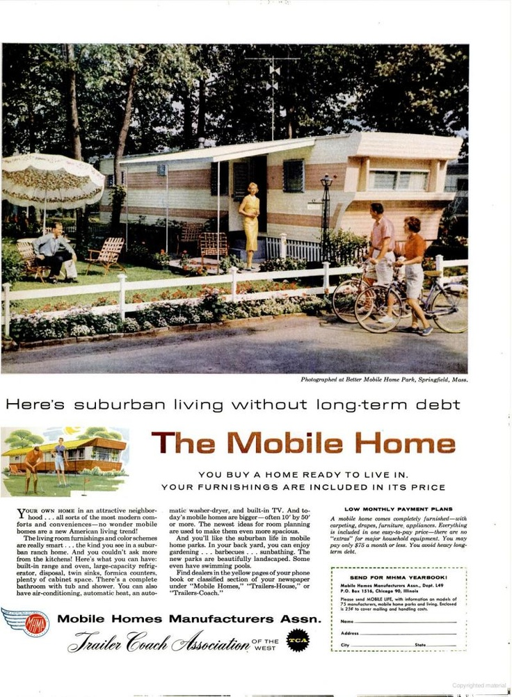 1959 The Mobil Home Vintage Ad