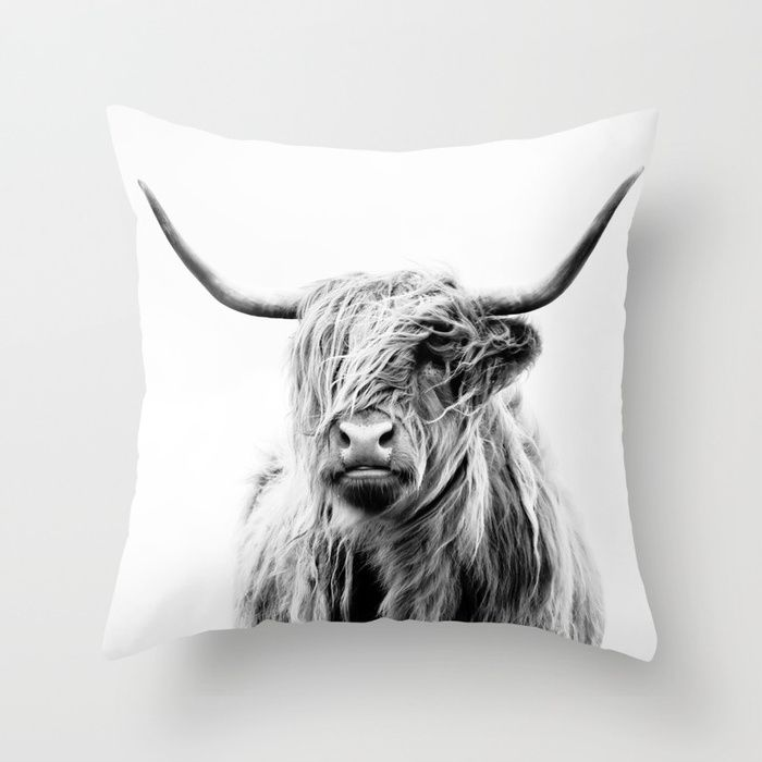 portrait of a highland cow Throw Pillow pillows Cute and kawaii designs on pillows for teens, girls and kids. Find decorative pillows for bedroom, with sayings or beautiful designs. #design #decor #society6 #cute #kawaii #pillow #pillows #sboar #lovely #interior #home #bedroom #bedroomdecor #animals #pets #wild #flower #floorpillow #floor #mermaid