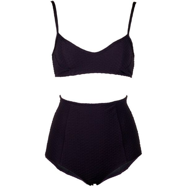 Rachel Comey Keena High Waist Bikini ($254) ❤ liked on Polyvore featuring underwear, bikini, swimwear, lingerie, tops and rachel comey