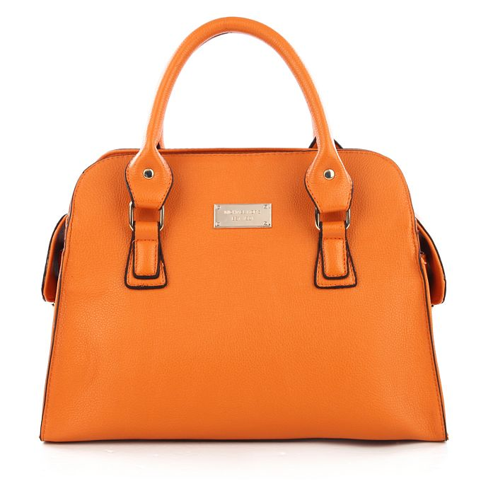 Michael Kors Gia Leather Large Orange Satchels only $72.99