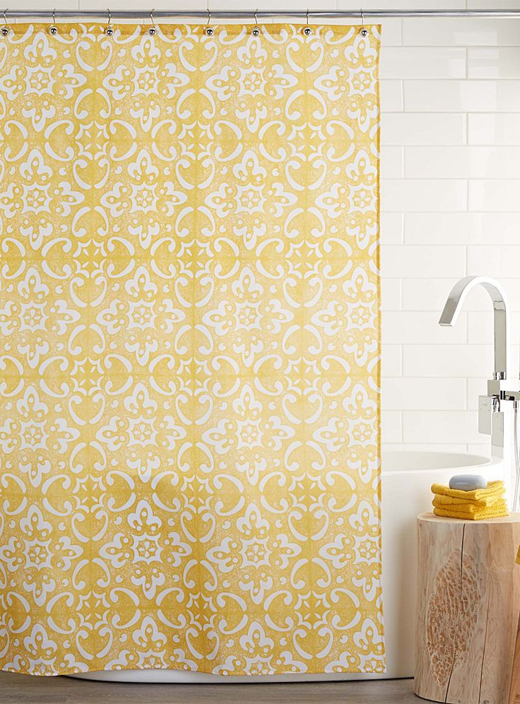 Mosaic shower curtain | Simons Maison | Shop Fabric Shower Curtains Online in Canada | Simons
