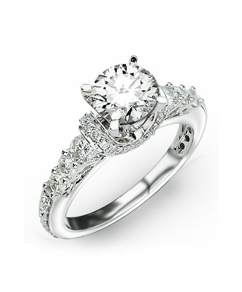 diamond engagement ring - David Tutera Wedding Rings