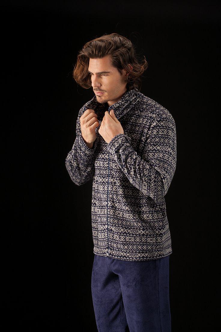 Chaqueta cosy con estampado invernal de Soy Sleep&Homewear Collection