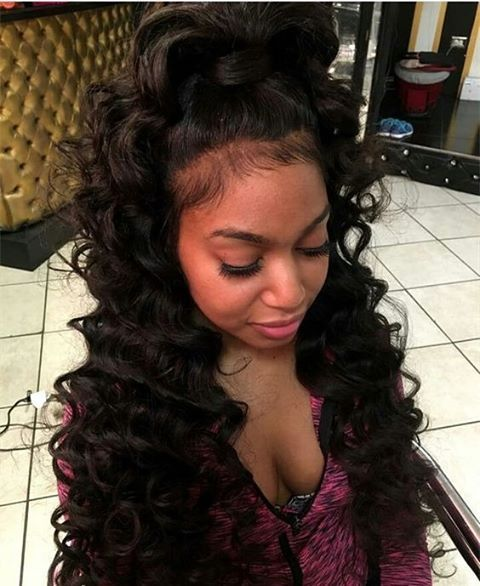 #Repost #wavehair #lacewiginstall flawlessly install, and sooo in love with  this ponytail - Best 25+ Weave Ponytail Hairstyles Ideas On Pinterest Weave