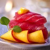 Thon cru � la mangue - une recette Poisson - Cuisine