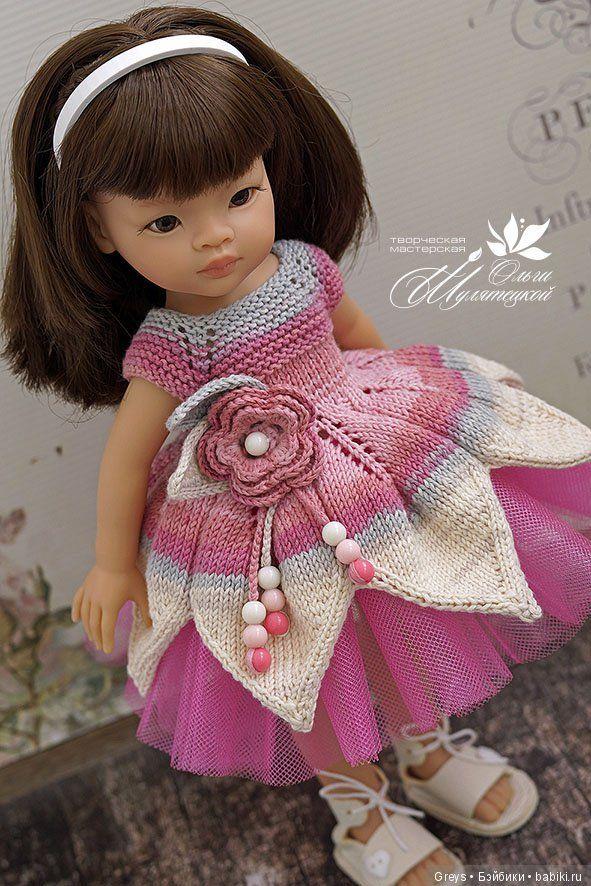 """Платья """"Акварельки"""", или цветотерапия в действии / Куклы Паола Рейна, Paola Reina / Бэйбики. Куклы фото. Одежда для кукол"""