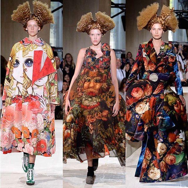 У @commedesgarcons в этот раз были неожиданно яркие (и очень крутые принты). А также загадка: найди на фото полотно художника Джузеппе Арчимбольдо. Больше принтов на loffisielrussia.ru активная ссылка в описании профиля #commedesgarcons via L'OFFICIEL RUSSIA MAGAZINE INSTAGRAM - Fashion Campaigns  Haute Couture  Advertising  Editorial Photography  Magazine Cover Designs  Supermodels  Runway Models