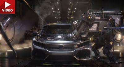 Wer hätte das gedacht; Transformatoren stellen Hondas neue 2017 Civic Hatch Commercials Honda Honda Civic Honda Videos Video