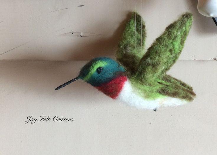 Needle felted hummingbird by Joyfelt Critters