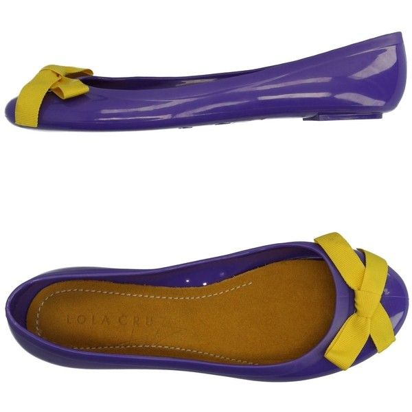 Lola Cruz Ballet Flats ($26) ❤ liked on Polyvore featuring shoes, flats, purple, purple ballet shoes, animal flats, purple ballet flats, bow ballet flats and ballerina pumps