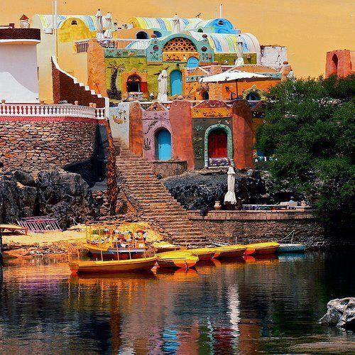 Para dar um passeio pelo Rio Nilo de Feluka! - Nubia , Egypt