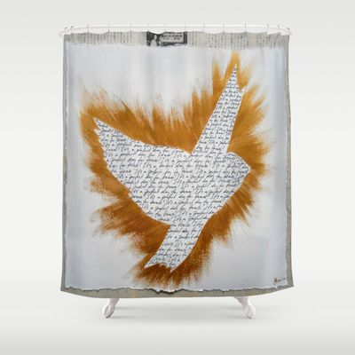 ThePeaceBombs - Perfect day for Peace Shower Curtain by ThePeaceBombers - $68.00  Part of the world know PeaceBomb Team - Join it now! Acrylics and ink on recycle quality paper Handwritten text - Japanese book paper Created by the Founder of The PeaceBomb Team. Join it now!  #decor #home #shower #bathroom #curtains #homes #peace #art #thepeacebomb