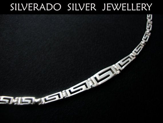 Greek Eternity Key Meander Design Gratuated by SilveradoJewellery, €35.00