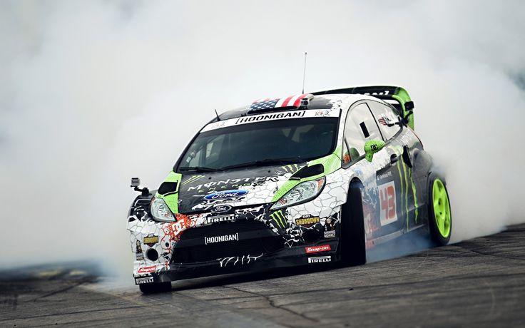 Ken Block Fiesta Monster Energy Drifting Drift Block