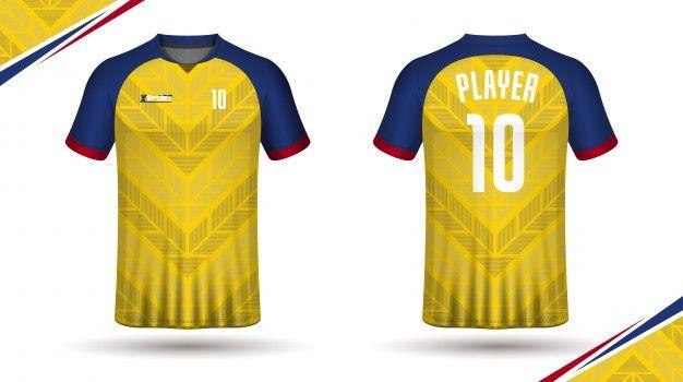 Download Modelo De Camisa De Futebol Esporte Design De T Shirt Desain Pakaian