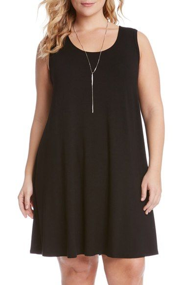 Karen Kane 'Maggie' Sleeveless Trapeze Dress (Plus Size) available at #Nordstrom