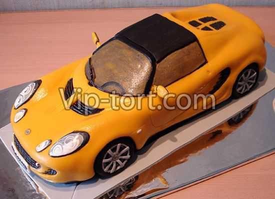 """Детский торт """"Желтый Lamborghini"""""""
