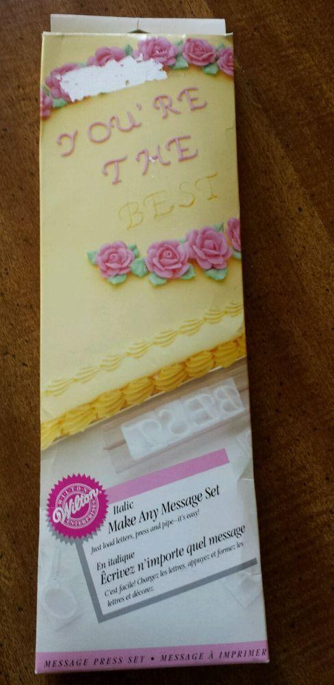 Cake Decorating Set Wilton Italic Make Any Message 63 PC ...