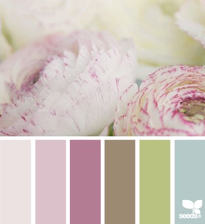Color palette - vintage pink and  green tones. Color pallets, color palettes, color scheme, color inspiration. Wedding hues