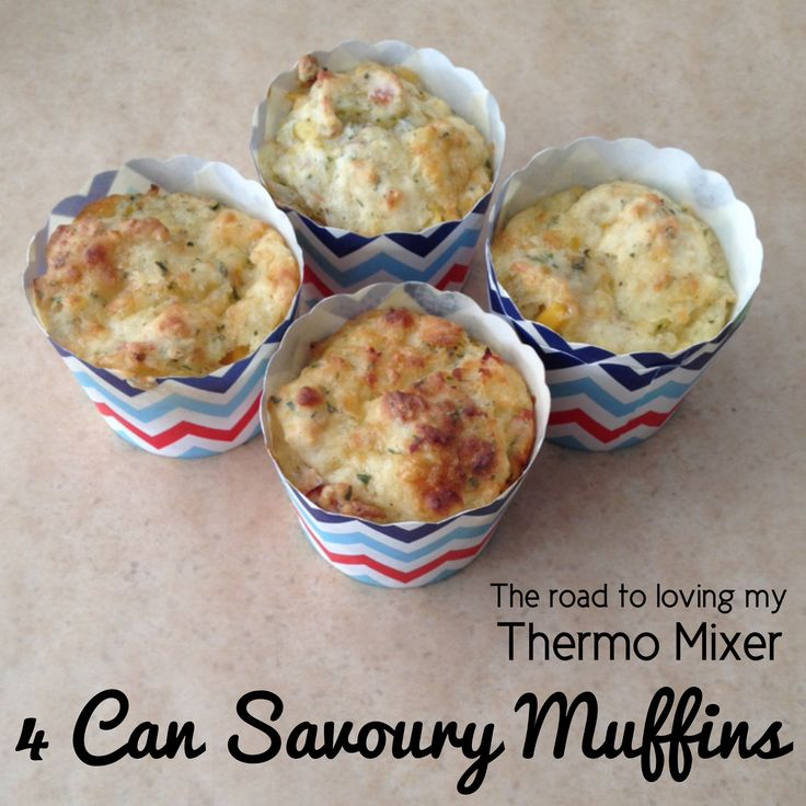 4 Can Savoury Muffins – The Road to Loving My Thermo Mixer