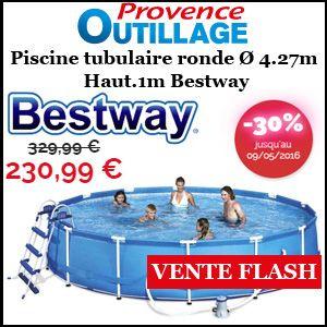 #missbonreduction; Vente flash: 30% de remise sur la Piscine tubulaire ronde Ø 4.27m Haut.1m Bestwayhttp://www.miss-bon-reduction.fr//details-bon-reduction-Provence-Outillage-i858665-c1831263.html