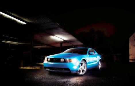 Ford Mustang light blue