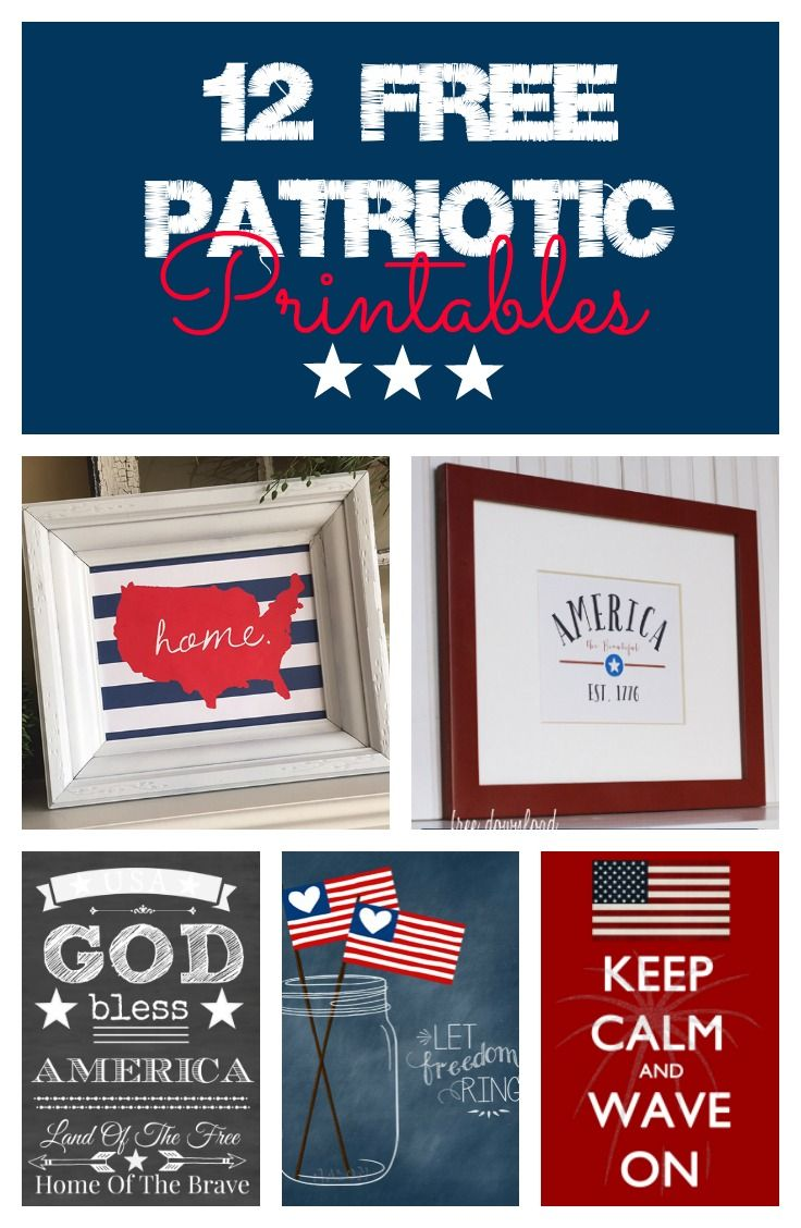 34 Best Free Memorial Day Printables Images On Pinterest July 4th