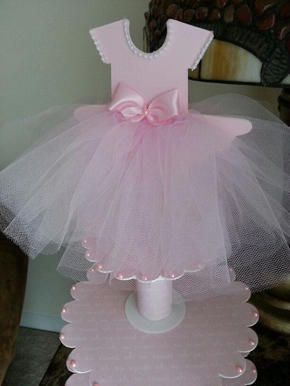 Three Tier Pink Ballerina Shoe Favor Stand by TheCarriageShoppe