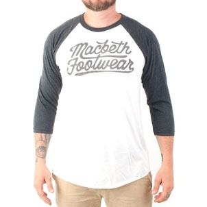 Macbeth Scripted Baseball Raglan White/Heather Black