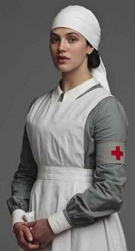 Lady Sybil in her WWI nurse uniform