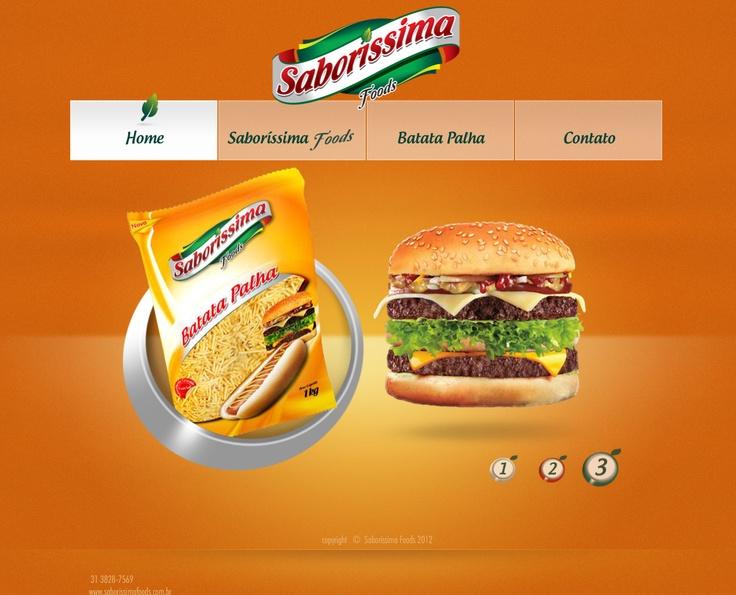 Layout Flash HotSite Saboríssima.  www.saborissimafoods.com.br