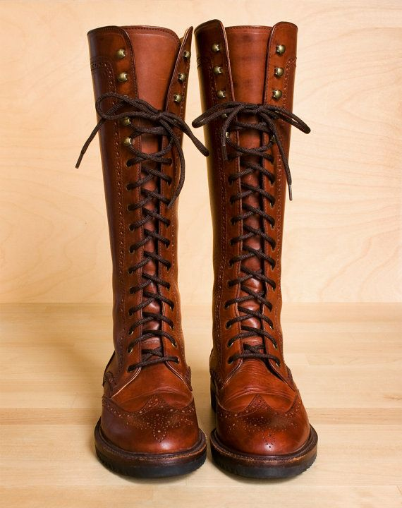 Lace up riding boots 5 - 5.5. Vintage 1980s Cole Haan